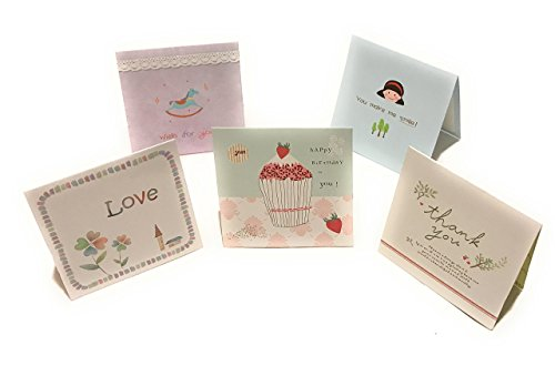 8 Pack Assorted All Occasion Greeting Cards - Includes Birthday, Thank You, Good Luck, Special Day, etc- Envelopes Included - 3 x 3.5 Inches mini sized (Sunshine Note)