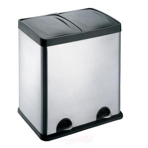 Unterschiedlich Treteimer Abfalleimer Mülleimer Mülltrennung Edelstahl (60 Liter  RG82