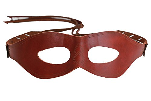 [Women's New V2.1 Red Arrow Mask Roy Thea Cosplay Dark Red Eye Patch] (Red Eye Mask)