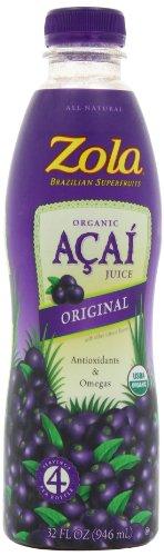 Zola brésilien superfruits Acai jus d'origine, bouteilles de 32 onces (pack de 8)