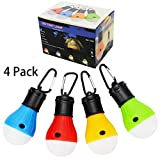 Portable LED Lantern, WDNBO 4 PACK Tent Light Bulb for Camping Hiking Fishing Emergency Light, Battery Powered Camping Lamp indoor and outdoor Lighting & Water Resistant Gift