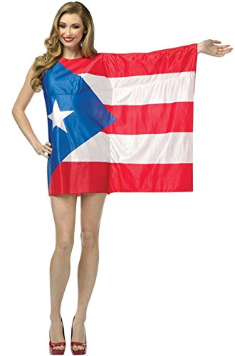 Flag Dress-Puerto Rico Costume - One Size - Dress Size 6-10 (Puerto Rico Flag Dress Sexy Costume)