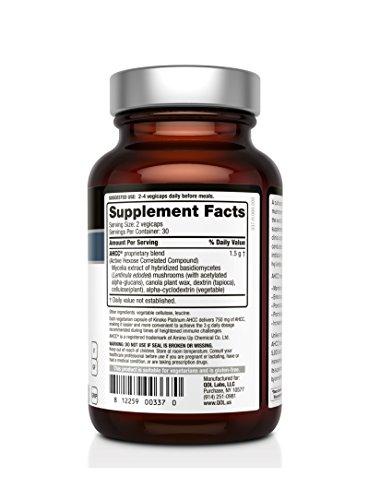 Premium-Kinoko-Platinum-AHCC-Supplement--750mg-of-AHCC-per-Capsule--Supports-Immune-Health-Liver-Function-Maintains-Natural-Killer-Cell-Activity--60-Veggie-Capsules