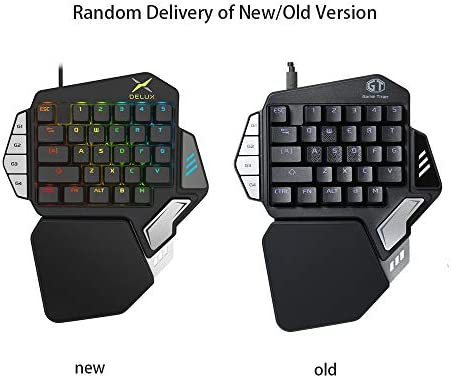 Kkmoon Delux T9x Mechanical Wired Gaming Keyboard One Single Hand Game Keyboard Rgb Led Backlit Ergonomic With Full For Macro Programmable Keys Buy Online At Best Price In Uae Amazon Ae