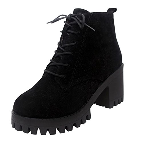Martin Chukka Bout Bottes Cuir SANFASHION Synth Femmes Boots Talons Bottes Haut Rond w4CqR8