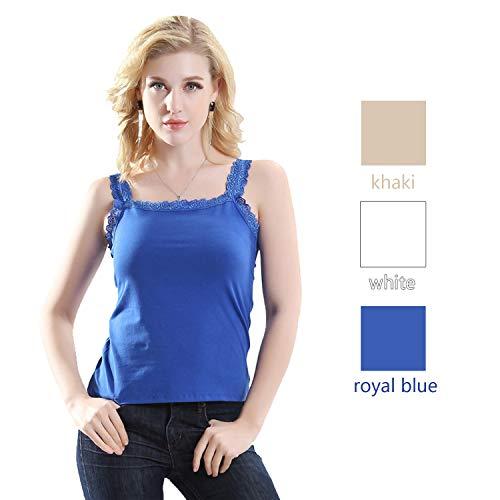 Caraco white Khaki Alizeal royal Femme Blue 804BRq