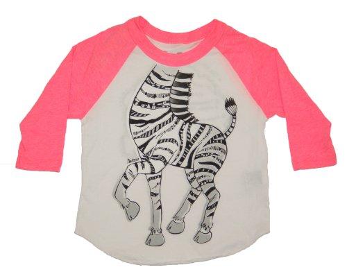Peek A Zoo Toddler Become an Animal 3/4 Sleeve Raglan - Zebra Pink - 6T