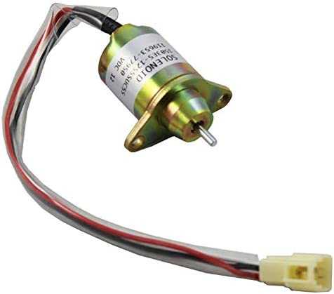 Templehorse 1503ES-12S5SUC5S Solenoid Valve 12V Fuel Shut Off Solenoid Replacement for Yanmar 119653-77950 John Kubota Takeuchi