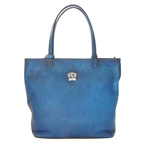 Sac en cuir véritable Pratesi Monterchi - B461 Bruce (bleu) Bleu