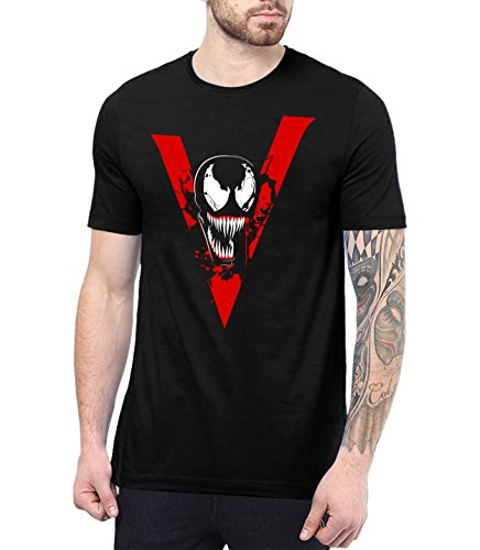 Venom Black Costume (Boys Black Venom Costume Merchandise Gifts for Mens| We are Venom, L)
