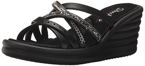 Skechers Cali Women's Rumbler Wave-New Lassie Slide Sandal,black,11 M US