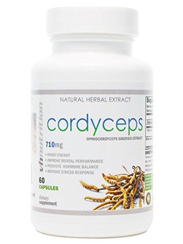 Cordyceps Sinensis Mushroom | 710mg Capsules | 7% Cordycepic Acid Extract Powder | 30 Day (Cordyceps Sinensis Mushroom)