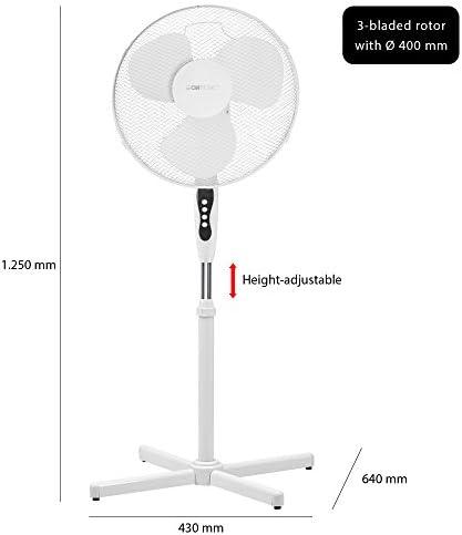 Clatronic VL 3603 S Ventilador de pie oscilante, 3 velocidades, altura ajustable, 40 cm, 45 W, 220 V, Blanco: Clatronic: Amazon.es: Hogar