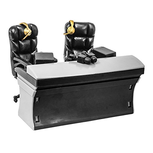 Ultimate Black Commentator Table Playset for WWE Wrestling Action Figures (Announcers Table Wwe)
