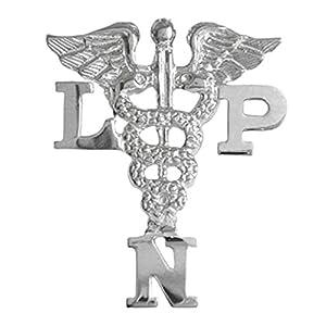 NursingPin Licensed Practical Nurse LPN Graduation Nursing Pin in Sterling Silver