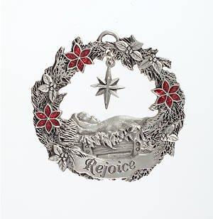Ornament-Reason To Rejoice (Ornaments Of Faith)-Pewter (Jul)
