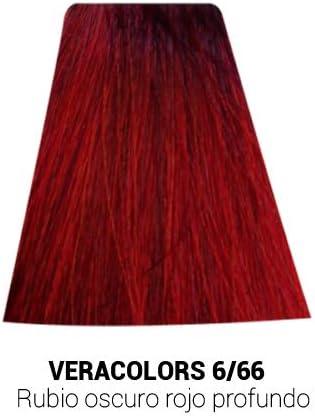 MH Cosmetics VeraColors Tinte Capilar Profesional con Aloevera 6/66 Rubio Oscuro Rojo Profundo 60 ml