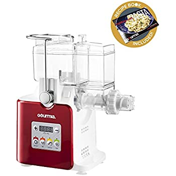 Gourmia GPM500 Complete Craft Electric Pasta Maker for Regular, Gluten Free and Whole Wheat Pasta, 8 Discs Included- Includes Free Recipe Book - 110V