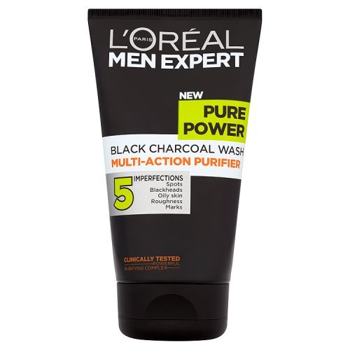 l 39 or al paris men expert pure power black charcoal purifying wash 150ml buy online in uae. Black Bedroom Furniture Sets. Home Design Ideas