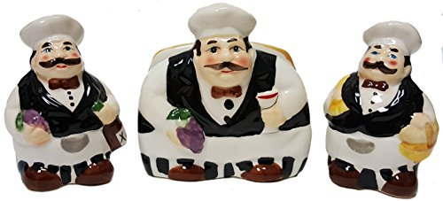 Fat Chef Ceramic Hand Painted Kitchen (Table Set)