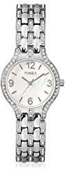Timex Women's T2P265 Silver-Tone/Mother of Pearl Stainless Steel Watch