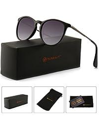 bdbcf832e3d Vintage Round Sunglasses for Women Classic Retro Designer Style
