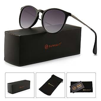 0c7fe5e37aa Amazon.com  SUNGAIT Vintage Round Sunglasses for Women Classic Retro ...