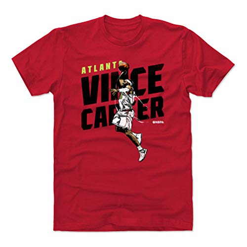 Basketball Carter Vince (500 LEVEL Vince Carter Cotton Shirt X-Large Red - Atlanta Basketball Men's Apparel - Vince Carter Slam K WHT)