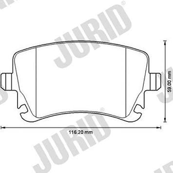 Jurid 573220j Brake Pad Set Disc Brake Pad Set 4 Parts Amazon Co