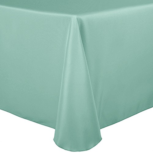 41S4sLff8CL - Ultimate Textile (60 Pack) 52 x 70-Inch Oval Polyester Linen Tablecloth - for Home Dining Tables, Mint Light Green