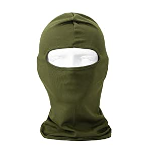 NewNow Candy Color Ultra Thin Ski Face Mask - Great Under A Bike / Football Helmet -Balaclava-Army Green
