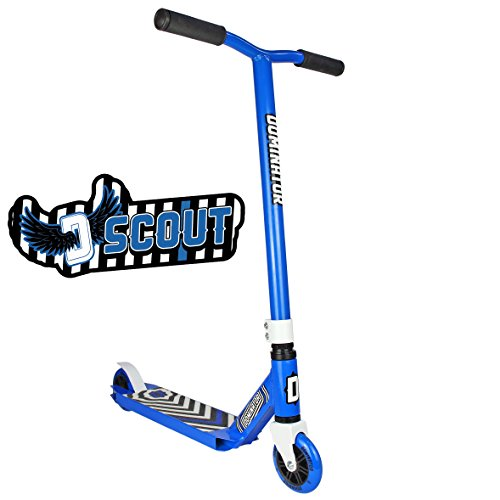 Dominator Scout Pro Scooter – Stunt Scooter – Trick Scooter (Blue/Blue)