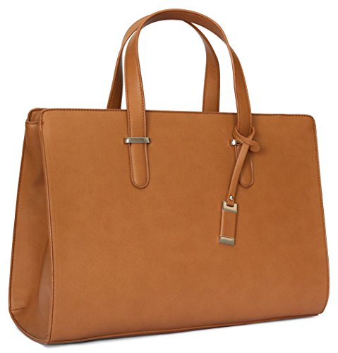 Computer Bag For Women, Ideal Laptop Tote Bag To Keep Your Business Documents, Laptop & Notebook Safe, Unique & Practical Laptop Accessories (Brown)