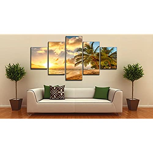 beach ocean painting on canvas wall art modern landscape scenery seascape posters and prints pictures for living room bedroom home deco gallery wrapped