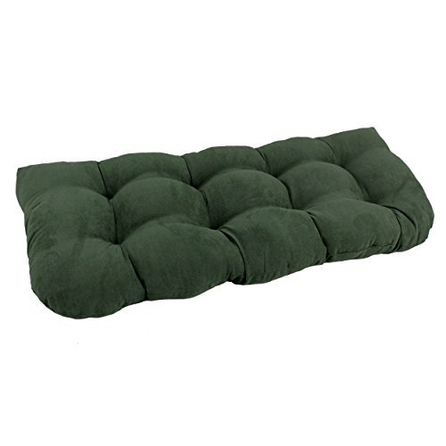 Blazing Needles U-Shaped Microsuede Tufted Settee/Bench Cushion, 42