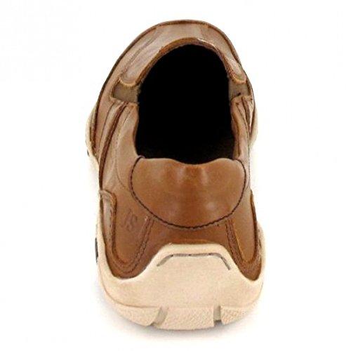 Josef Seibel Linus 09 Mens Casual Slip En Los Zapatos Camel Combi