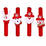 HOMEE Christmas Ornament Watch Christmas Snowman Old Man Deer Wrist Ornament Toy Making Christmas Decoration Gift (A Pank of 12),3 for each style,21 3