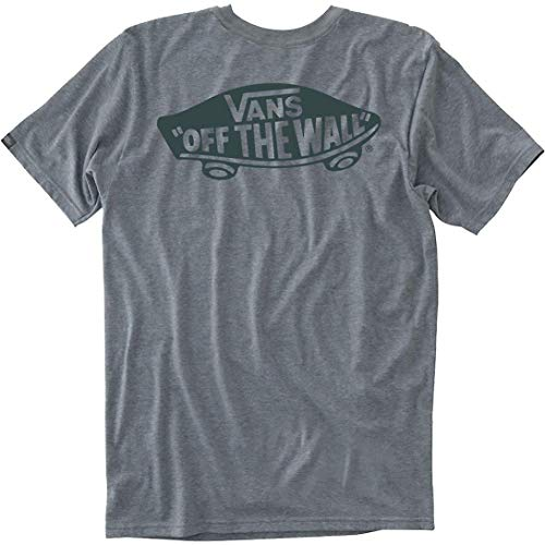 (Vans Mens Off The Wall T-Shirt Heather Grey/Darkest Spruce VN000JAYROZ (Large))