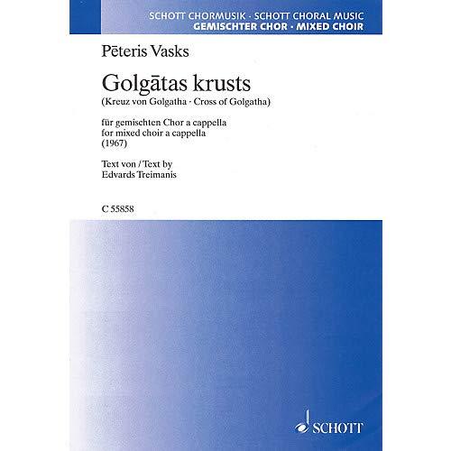 Cross of Golgotha (Mixed Choir a cappella) SATB Composed by Peteris Vasks- Pack of 3 - Cross Golgotha