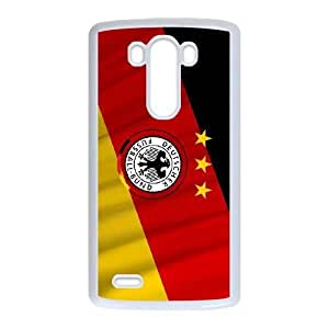 Popular And Durable Designed TPU Case With German flag_001 For LG G3 Cell Phone White Cover