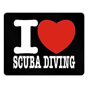 Teeburon I love Scuba Diving Plastic Acrylic