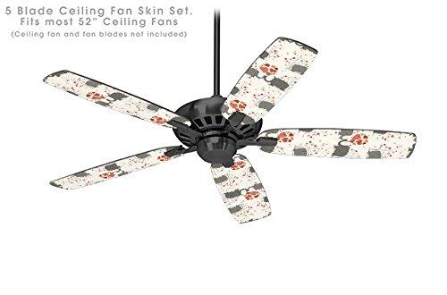 Elephant Love - Ceiling Fan Skin Kit fits most 52 inch fans (FAN and BLADES NOT INCLUDED)