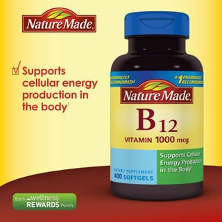400 Mcg Vitamin - Nature Made Vitamin B-12 Value Size, 1000 Mcg, 1 Pack ( 400 Count)