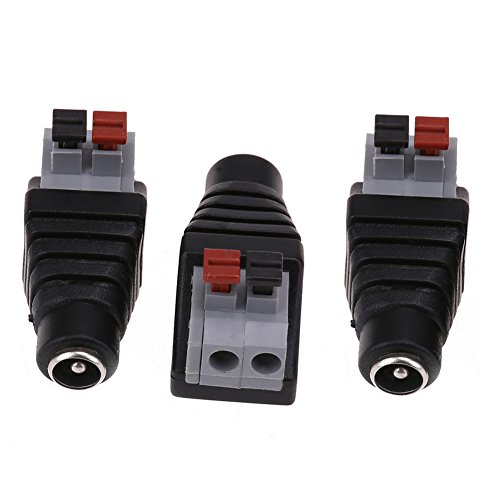 GINZU 3PCS/Lot 12V Female Connector 2.15.5mm DC Power Jack Plug Adapter Conector For Led Strip Light Connection