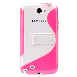 Gel TPU Stand Case+Clear Protector for Samsung Galaxy Note 2 N7100 , Purple