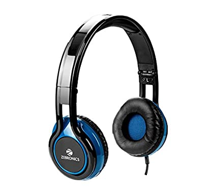 d6699a1903a Zebronics ZEB-BUZZ Wired Headset Headphone 3.5 mm with mic   Soft Padded  Cup over