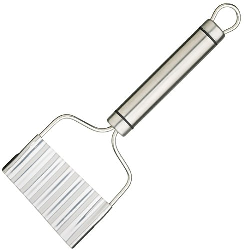 Professional Stainless Steel Short Oval Handled Crinkle Chip - Crinkle Chips
