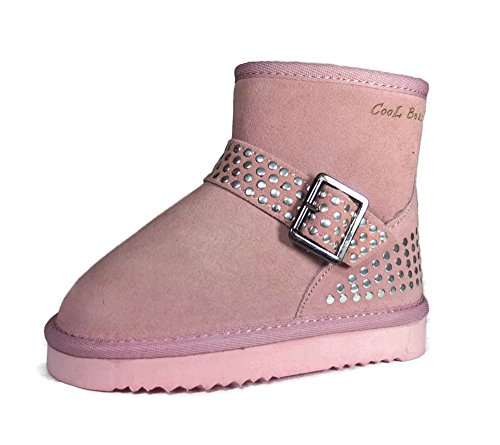 Genuine Leather Snow Boots - Cool Beans Girls Warm Sheep Fur Winter Snow Boots, Genuine Leather ( Toddler / Little Kid size 11 )