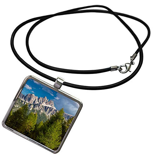 (3dRose Danita Delimont - Italy - Croda da Lago and Lastoni di Formin Mountains, Dolomites, Italy - Necklace with Rectangle Pendant (ncl_313697_1) )