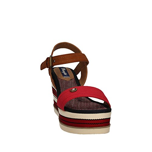 WRANGLER - Wrangler, sommerliche Sandalette, red denim 87red